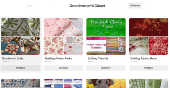 Planning My Patchwork Quilt With Pinterest